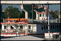 Decks of riverboat Arkansas Queen. Little Rock, Arkansas, USA ( color)