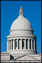 Dome of the Arkansas State Capitol. Little Rock, Arkansas, USA