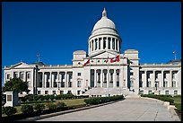 Walkway leading to the Arkansas Capitol. Little Rock, Arkansas, USA