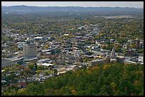 City and horizon seen from a hill. Hot Springs, Arkansas, USA ( color)