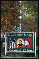 Welcome to Hot Springs, hometown of Bill Clinton. Hot Springs, Arkansas, USA ( color)