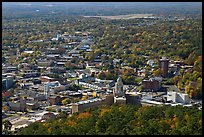 City in fall from above. Hot Springs, Arkansas, USA ( color)