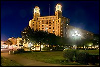 Historic hotel by night. Hot Springs, Arkansas, USA ( color)