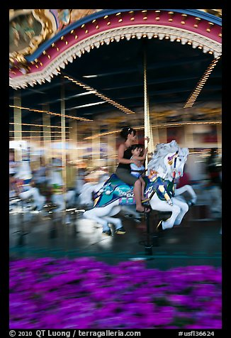 Carousel, Magic Kingdom Theme park. Orlando, Florida, USA (color)