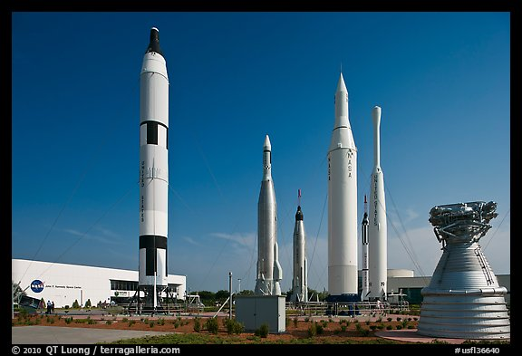Saturn Rockets, John F. Kennedy Space Center. Cape Canaveral, Florida, USA (color)
