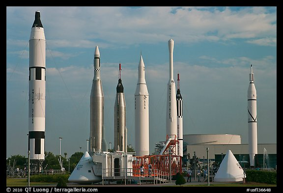 Rocket garden, John F Kennedy Space Center. Cape Canaveral, Florida, USA (color)