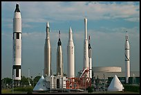 Rocket garden, John F Kennedy Space Center. Cape Canaveral, Florida, USA ( color)