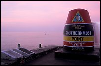 Marker for Southermost point in continental US. Key West, Florida, USA ( color)
