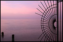 Grid and pilings and sunrise. Key West, Florida, USA ( color)