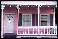 Pastel-colored pink porch. Key West, Florida, USA (color)
