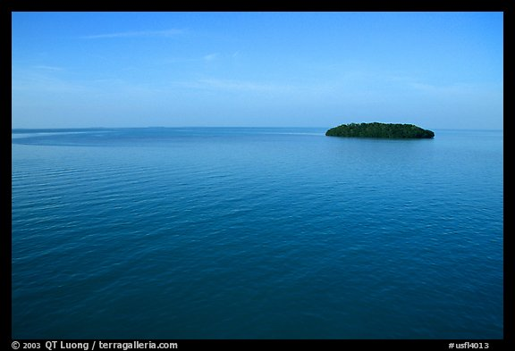 Small island in Florida Bay. The Keys, Florida, USA (color)