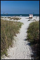 Sandy path leading to beach, Jetty Park. Cape Canaveral, Florida, USA ( color)