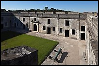 Courtyard, Castillo de San Marcos National Monument. St Augustine, Florida, USA (color)