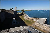 Fort Castillo de San Marcos overlooking Matanzas Bay,. St Augustine, Florida, USA (color)