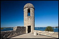 Bell Tower, Castillo de San Marcos National Monument. St Augustine, Florida, USA (color)