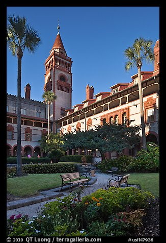 Ponce de Leon Hall, Flagler College. St Augustine, Florida, USA (color)