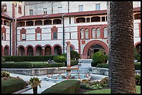 Main courtyard, Flagler College. St Augustine, Florida, USA ( color)