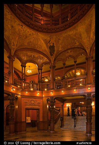 Lobby and rotunda, Flagler College. St Augustine, Florida, USA (color)