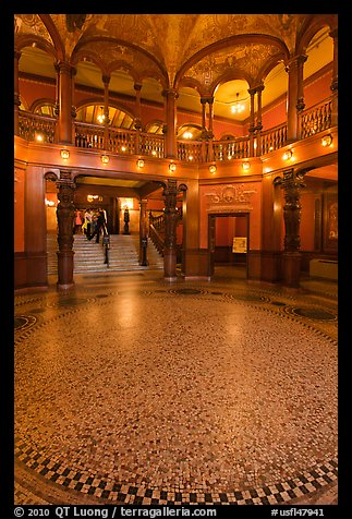 Foyer, Flagler College. St Augustine, Florida, USA (color)