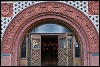 Spanish renaissance style archway, Flagler College. St Augustine, Florida, USA ( color)