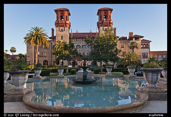 City Hall, formerly Hotel Alcazar. St Augustine, Florida, USA (color)