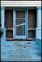 House blue doorway. St Augustine, Florida, USA (color)