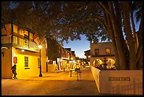 historic Spanish Colonial Quarter by night. St Augustine, Florida, USA