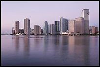 Downtown skyline at dawn, Miami. Florida, USA ( color)