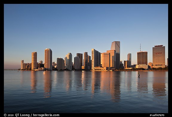 Miami Skyline. Florida, USA (color)