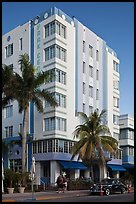 Art Deco Style Hotel, South Beach, Miami Beach. Florida, USA ( color)