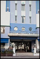 Entrance of Park Central Hotel in Art Deco architecture, Miami Beach. Florida, USA ( color)