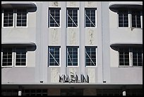 Detail of Art Deco Facade, Miami Beach. Florida, USA ( color)