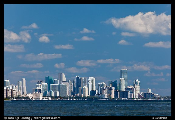 Distant Miami skyline. Florida, USA (color)