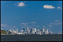 Biscayne Bay and Miami skyline. Florida, USA (color)