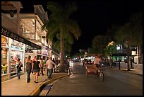 Street at night. Key West, Florida, USA ( color)