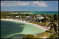 Panoramic view of Bahia Honday Key and Bahia Honda State Park. The Keys, Florida, USA ( color)