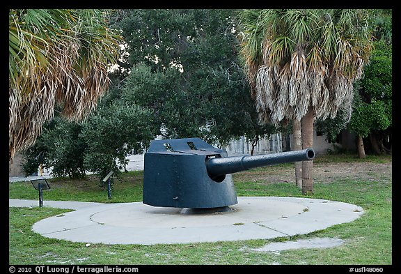 Artillery turret, Fort De Soto Park. Florida, USA (color)
