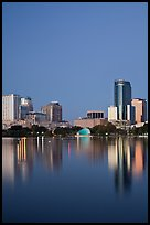 Night skyline. Orlando, Florida, USA ( color)
