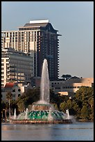 Fountain, Lake Eola, Sumerlin Park. Orlando, Florida, USA ( color)