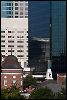 Church and downtown high rise buildings. Orlando, Florida, USA ( color)