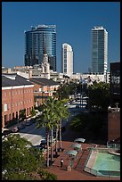 Modern and historic buildings in downtown. Orlando, Florida, USA ( color)