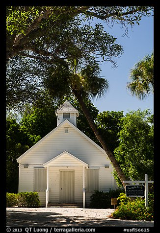 Chapel by the Sea, Captiva Island. Florida, USA (color)