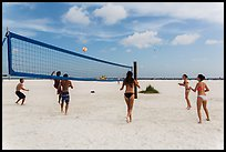 Volleyball at Siesta Beach, Sarasota. Florida, USA ( color)