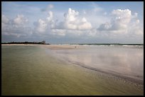 Beach and shallow flats, Fort De Soto beach. Florida, USA ( color)