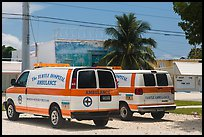 Turtle Hospital ambulances, Marathon Key. The Keys, Florida, USA (color)