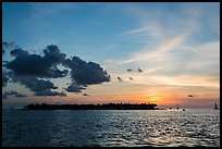 Sunset Island at sunset. Key West, Florida, USA (color)