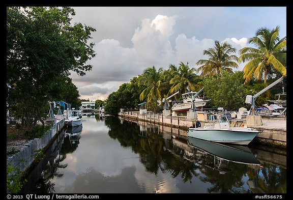 Canal, Big Pine Key. The Keys, Florida, USA (color)