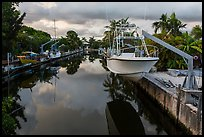 Yachts and canal, Big Pine Key. The Keys, Florida, USA (color)