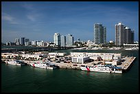Coast guard station and Miami Beach. Florida, USA ( color)