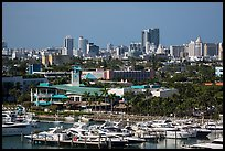 Marina and Miami Beach. Florida, USA ( color)